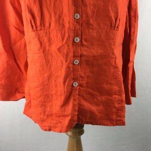 Jones New York Tops - Jones New York Collection Linen Button Up Shirt